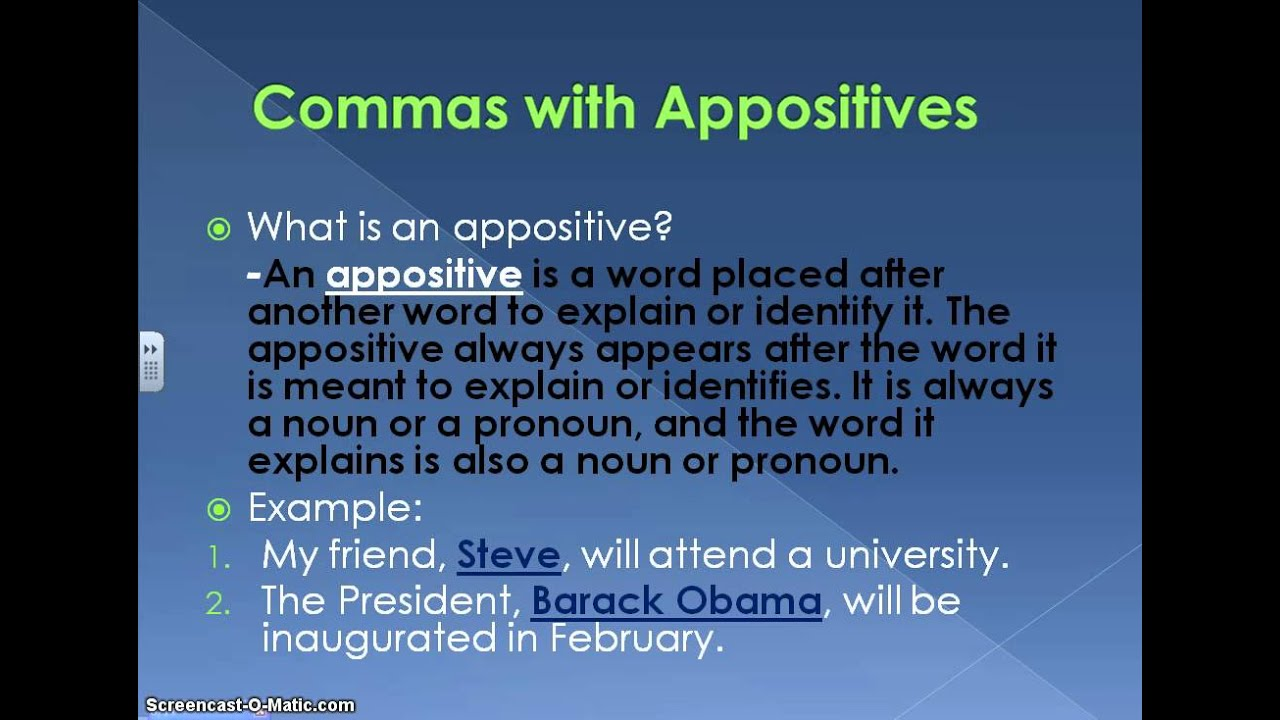 "the use of commas before and after interrupters Commas with interrupters use a comma before and after a word or group of words that interrupts a sentence anything that appears to ""interrupt"" or show contrast."