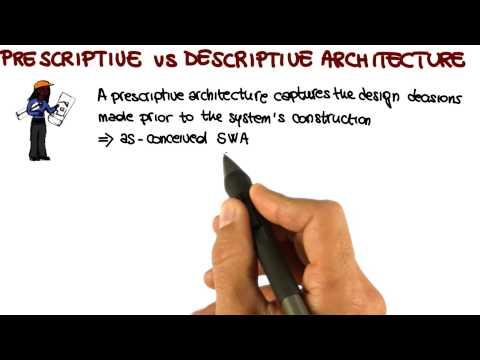 Prescriptive vs Descriptive Architecture - Georgia Tech - Software Development Process