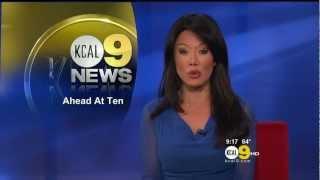Sharon Tay 2012/07/27 CBS2/KCAL9 HD; Blue dress
