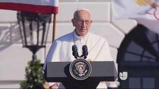 """El Papa: """"Un hijo de inmigrantes"""""""