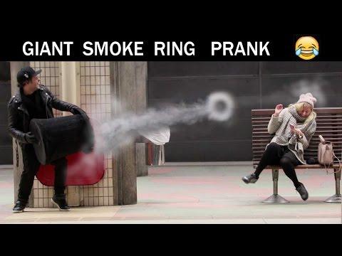 Giant Smoke Ring Prank -Julien Magic