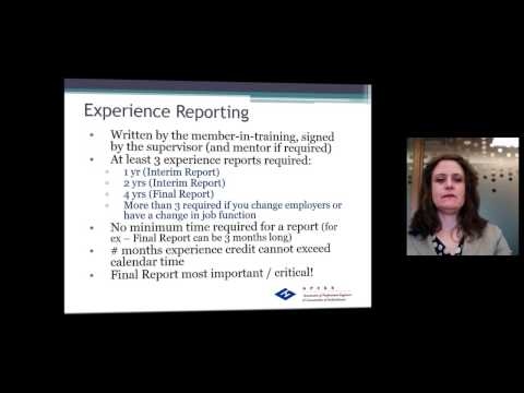Experience Reporting Orientation - Part 1 of 4