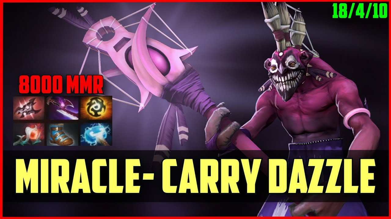 miracle 8000mmr carry dazzle armlet dota 2 gameplay youtube