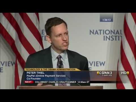 Peter Thiel - Obama Caused Technological Stagnation [C-Span]