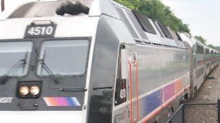 DUAL POWERED LOCOMOTIVE!  NJT 4510 Leads a NJ Transit Train at Union, NJ (June 19, 2014)