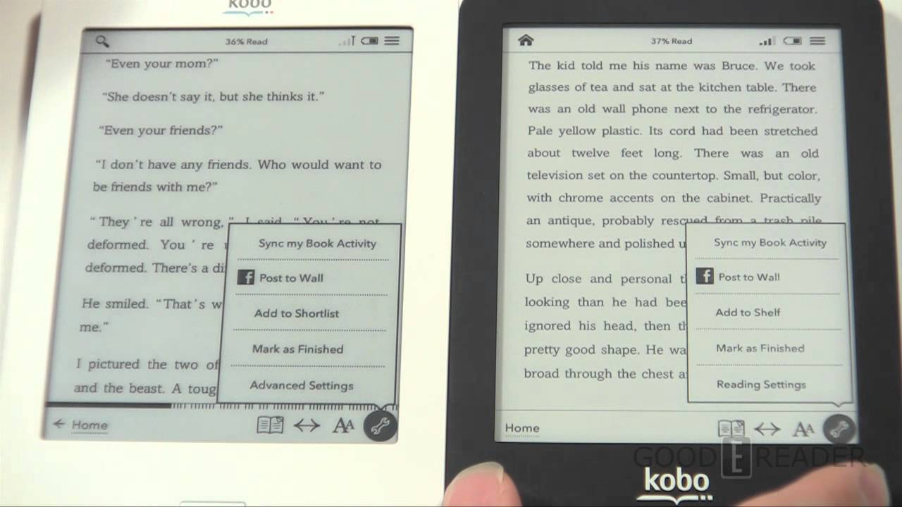 Kobo Glo vs the Kobo Touch