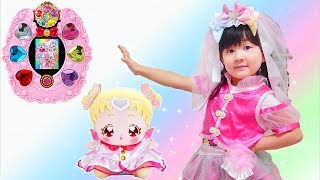 Pretend Play With Huggto Precure latest toy shopping