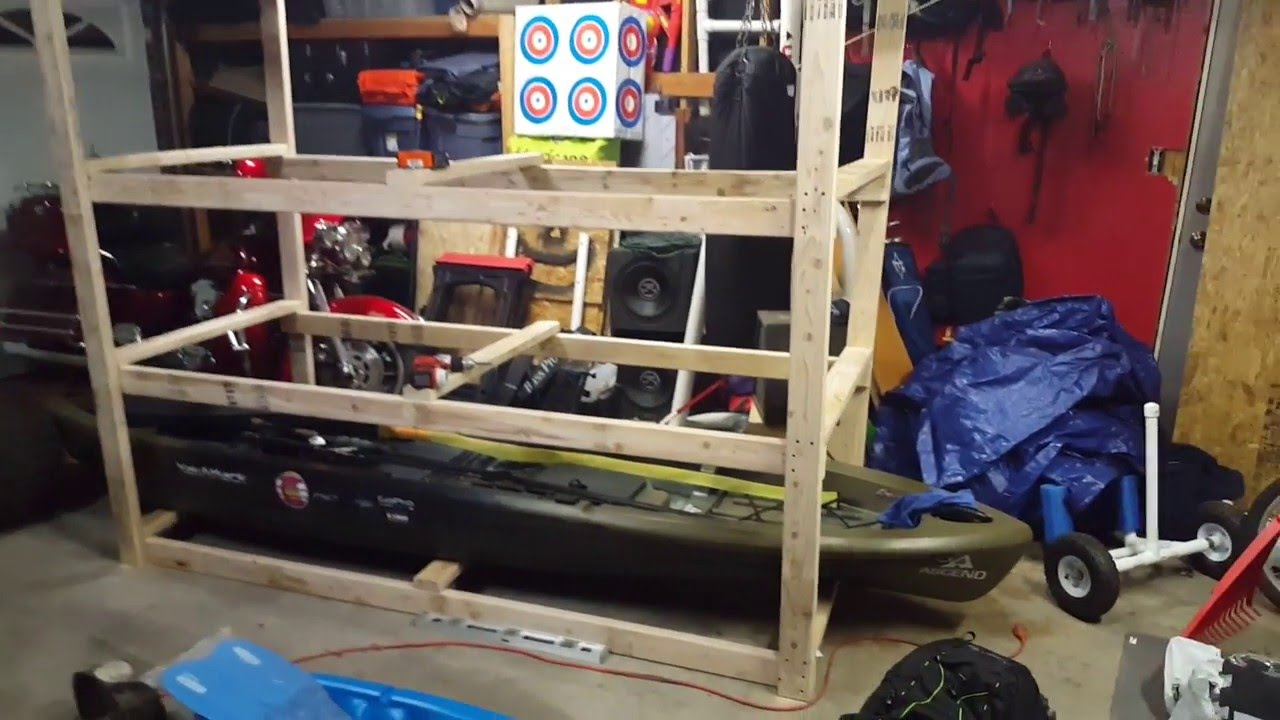 Diy Kayak Storage Youtube