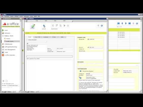 a-office - Wie Sie Briefe zu einer Adresse verfassen - SOFT GmbH HD
