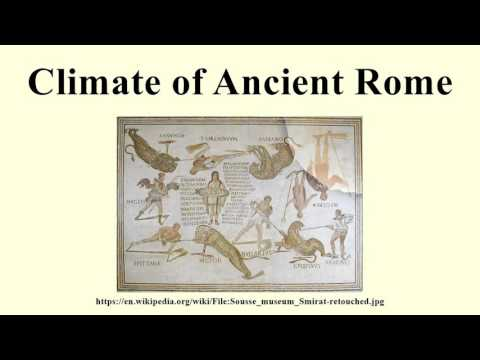 Climate of Ancient Rome