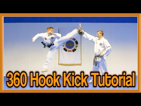 Taekwondo 360 Hook Kick Tutorial | GNT How to