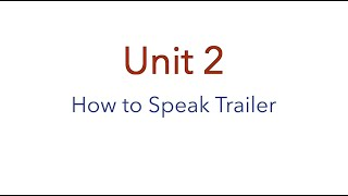 Free Preview: How To Build A Tiny House - The Australian Online Course: Unit 2- How To Speak Trailer