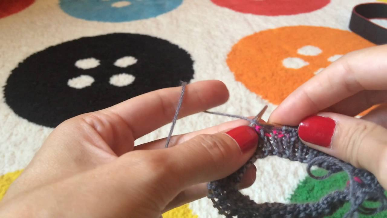 Sock knitting on small circular needles, part 2 - YouTube