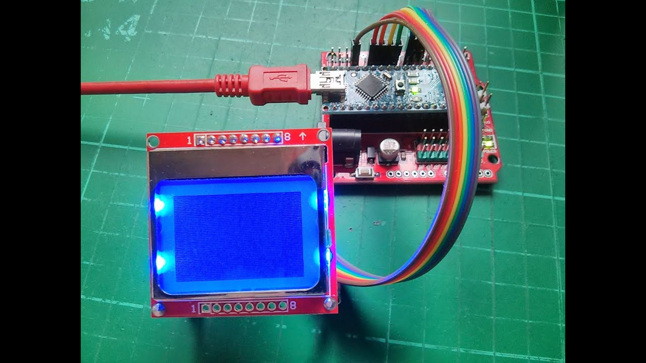 Arduino nokia lcd tutorial getting text on the