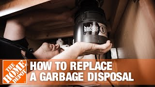 How to Replace a Garbage Disposal - The Home Depot