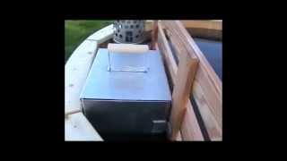 Как растапливать внутреннюю печь в уличной купели (Фурако)(Видеоролик показывающий процесс растопки погружной, водогрейной печки для уличной купели (Фурако)., 2014-05-22T09:52:37.000Z)