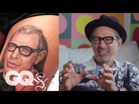 Jeff Goldblum Critiques Jeff Goldblum Tattoos  Tattoo Tour  GQ