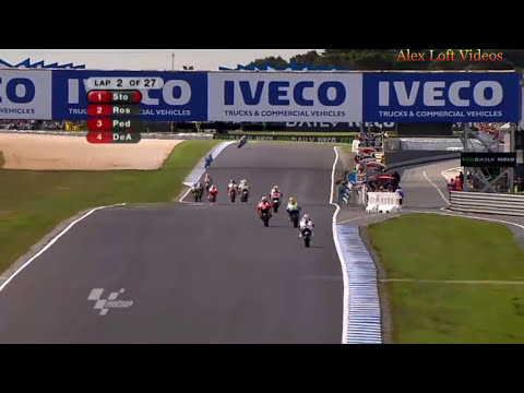 Australian GP 2009 - Stoner,Pedrosa,Rossi Battle (HD)