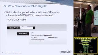 106 Medical Device Security From Detection To Compromise Scott Erven