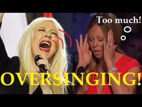 Female Singers OVERSINGING!! (too much!)