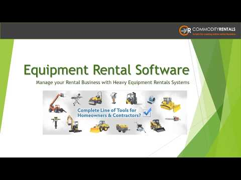 Equipment Rental Software For Booking And Rental Management