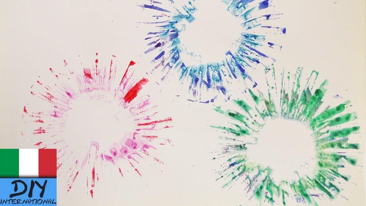 Dipingere Fuochi Dartificio Esplosione Di Colori Su Carta Youtube