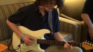 PJ Brutzman playing his personal Strat through FUCHS Full House 50 NY Amp Show 2013