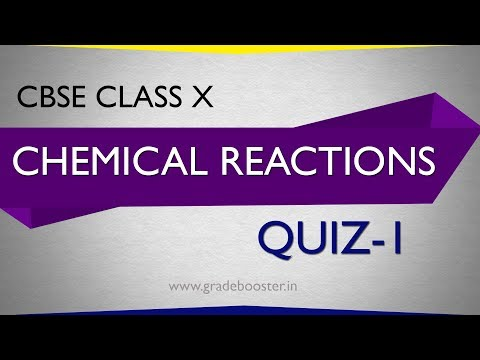 Mcq #chemical Reactions : Quiz : CBSE Syllabus : 10th Chemistry : Ncert Class 10 : X Science