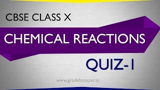 mcq in chemical reactions : Quiz : CBSE Syllabus : 10th Chemistry : ncert class 10 : X Science