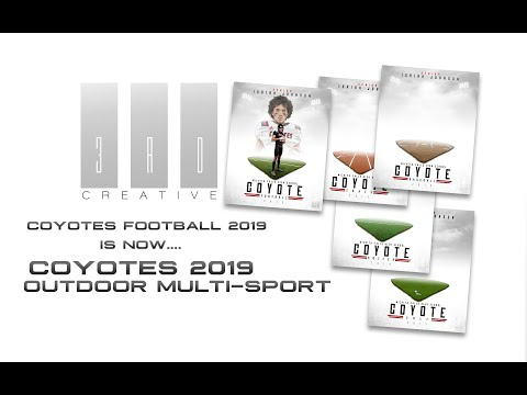Coyotes Football 2019 Is Now A Multi-Sport Photoshop Template!
