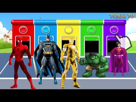 Халк супермен человек паук бэтмен мультфильм