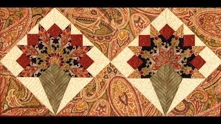 Bridal Bouquet, Nose Gay part 1 quilt video by Shar Jorgenson