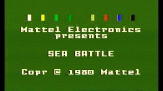 Sea Battle: The Fiŗst RTS? [Intellivision]
