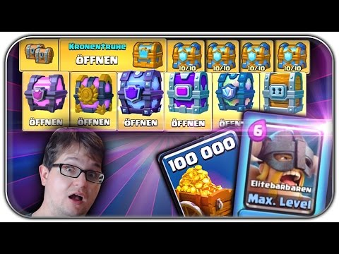 FIRST TIME MAXIMUM LEVEL KARTE UPGRADE | Clash Royale Let's Play | Deutsch German