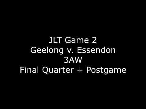 AFL JLT Game 2 2018 - Geelong v. Essendon - 3AW commentary - Final Quarter + Postgame