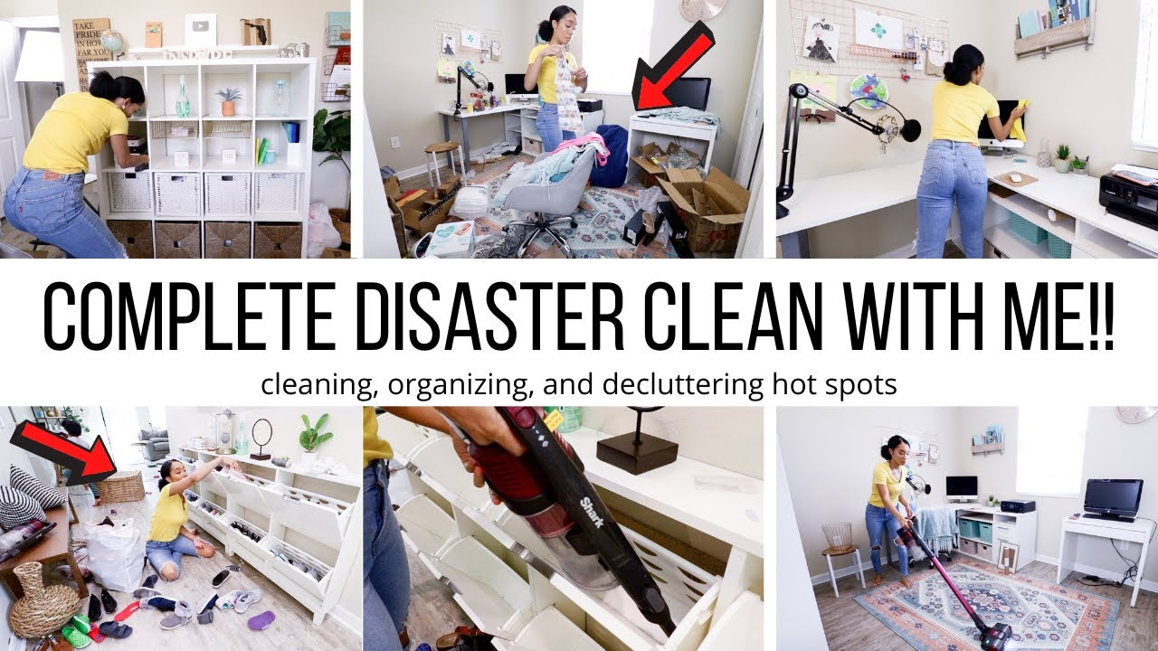 CLEAN WITH ME DISASTER SPOTS!! // CLEANING MOTIVATION // Jessica Tull cleaning