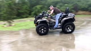Drifting  Can-am during hurricane
