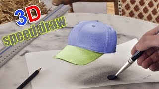 3D Drawing anamorphic cap / SpeedPainting (How to Draw)