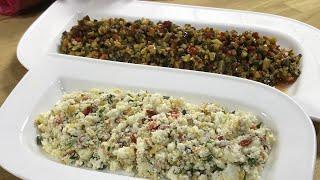 Kahvaltılık ve ikramlık 2 salata tarifi