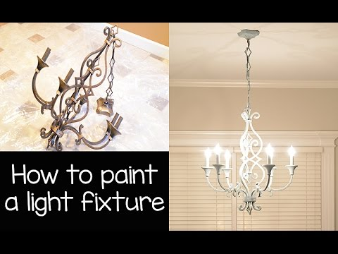 How To Paint A Chandelier Light Fixture With Annie Sloan Chalk And Wax