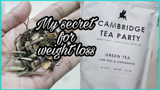 Weight loss with green tea | Cambridge Tea Party Whole Leaf Green Tea | Cutiful blogger