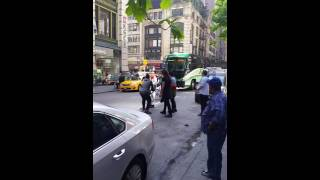 "NYC Cab Driver Fighting w/ Dirtbags Over Fare - ""Uber Cop"" Pulls Up"