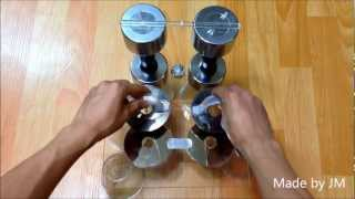 Electrostatic generator made of HDD platters