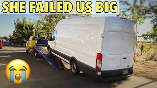 2015 Ford Transit 350 - She failed us big at a Huge Wedding!!