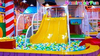 [12.08 MB] mainan Anak Indoor Playground Mandi Bola Perosotan Anak di Taman Bermain Anak Fun for Family & Kids