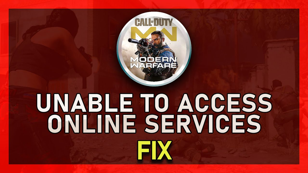 Modern Warfare How To Fix Unable To Access Online Services Connection Failed Error Youtube I've gone over every troubleshooting step microsoft and activision has to offer and still nothing. modern warfare how to fix unable to access online services connection failed error