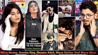 Indian Reaction On PAKISTAN Tik Tok Starts Best Transformation Vidoes | M Bros Reactions