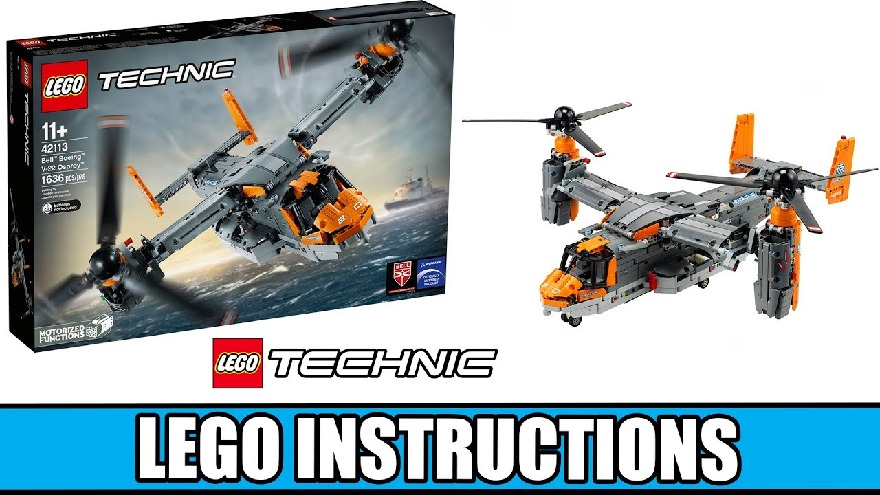 Lego OSPREY Bell Boeing V22 42113 DropBox link photos complete Instructions only
