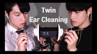 【3DIO ASMR】 | 쌍둥이 귀청소 | Twin Ear Cleaning | Male ASMR