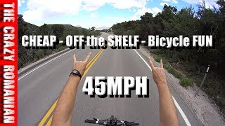 45 MPH on a Cheap Walmart or Amazon Off the Shelf E-Bicycle